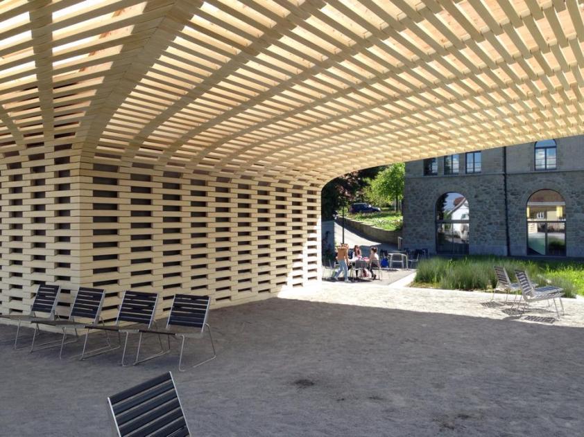 Stadtgarten vor der Studienbibliothek